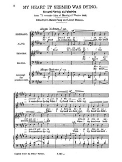 Palestrina, G P My Heart It Seemed Was Dying Satb Books | SATB
