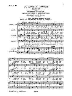 Tessier, C To Lovely Groves Satb Buch | SATB (Gemischter Chor)