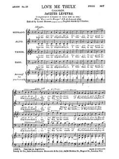 Lefevre Love Me Truly Satb Buch | SATB (Gemischter Chor)