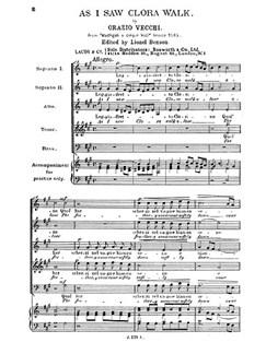 Vecchi, O As I Saw Clora Walk Ssatb Buch | SATB (Gemischter Chor)