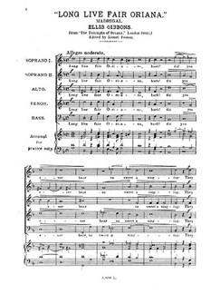 Gibbons, E Long Live Fair Oriana Ssatb Books | Choral, SSATB