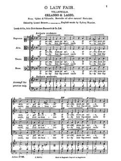Lassus, R O Lady Fair Thy Sweet Smile Satb Buch | SATB (Gemischter Chor)