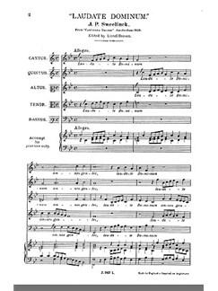 Sweelinck, J Laudate Dominum Ssatb Bog | SATB