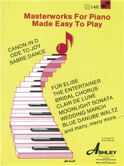 Masterworks For Piano Made Easy To Play (WFS 146) Books | Piano