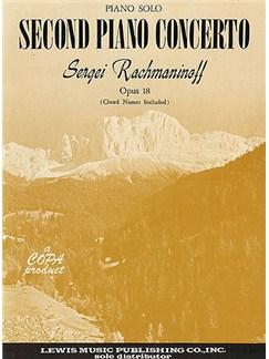 Piano Solo Arrangement Rachmaninov Second Piano Concerto Opus 18 Books |