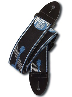 Gibson: 2 Inch Woven Strap With Gibson Logo (Steel Blue)  | Guitar