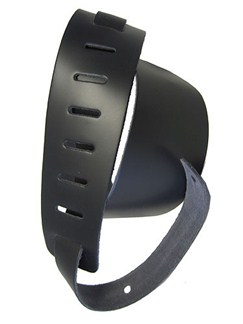 Planet Waves: Deluxe Leather Strap - Classic Black  | Guitar