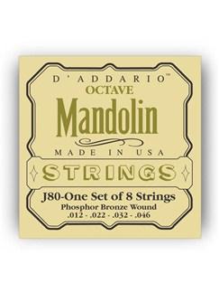 D'addario: J80 Octave Mandolin String Set 12-46 - Phosphor Bronze Wound  | Mandolin