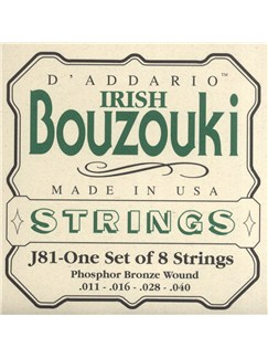 D'Addario: Irish Bouzouki Strings - Phosphor Bronze  | Bouzouki