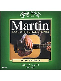 Martin: M170 80/20 Bronze Acoustic Guitar String Set (Extra Light)  | Acoustic Guitar