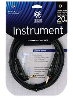 "Planet Waves: 20' Mono 1/4"" Right-Angle Instrument Cable  