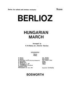 Berlioz, H Hungarian March Rokos Orch (Ma) Sc/Pts Books | Orchestra