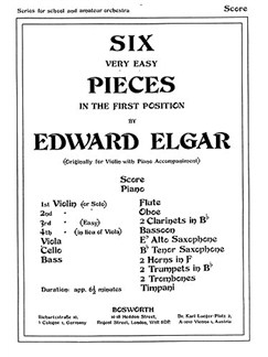 Edward Elgar: Six Very Easy Pieces Op.22 (Score/Parts) Books | Orchestra