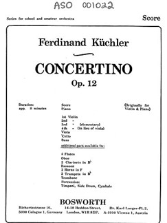 Ferdinand Küchler: Concertino In D Op.12 Books | Orchestra