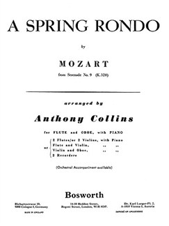 W.A. Mozart: Spring Rondo (Bosworth Amateur School Orchestra) Books | Orchestra