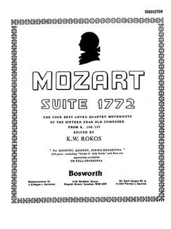 Mozart, Wa, F W Suite 1772 Rokos Orch (A) Sc/Pts Books | Orchestra