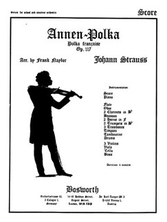 Johann Strauss II: Annen Polka Op.117 (Score And Parts) Books | Orchestra