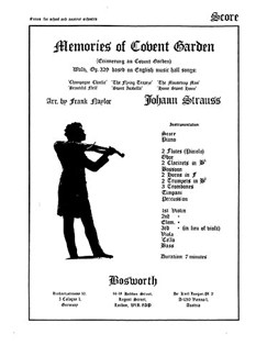 Strauss, J Ii Memories Of Covent Garden Naylor Orch (Me) Sc/Pts Books | Orchestra