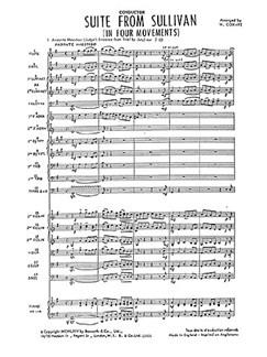Sullivan, A Suite From Sullivan Cox-ife Orch (A) Sc/Pts Books | Orchestra