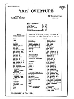 Tchaikovsky: 1812 Overture (additional Score/Parts) Books | Orchestra