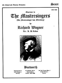 Richard Wagner: The Mastersinger's Overture (Score/Parts) Books | Orchestra