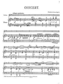Friedrich Seitz: Concerto Op.15 Books | Orchestra