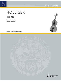 Heinz Holliger: Trema - Version For Violin Books | Violin