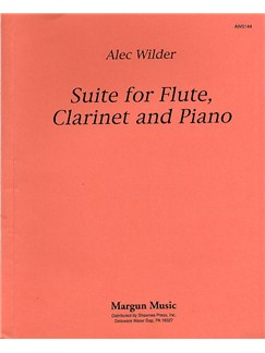 Alec Wilder: Suite For Flute, Clarinet And Piano Libro | Clarinete, Flauta, Piano de Cámara