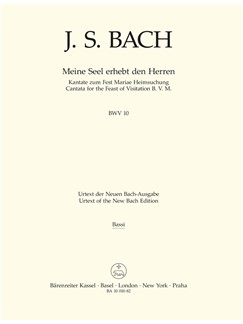 J.S. Bach: Cantata No. 10: Meine Seel Erhebt Den Herren - BWV 10 (Cello/Bass) Books | Double Bass