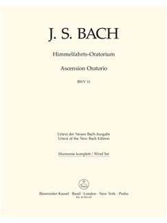 J.S. Bach: Ascension Oratorio (Laud To God In All His Kingdoms) (BWV 11) (Wind Set) Books | Choral