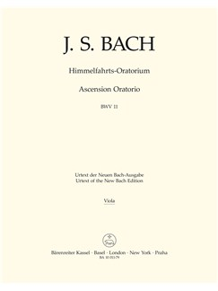 J.S. Bach: Ascension Oratorio (Laud To God In All His Kingdoms) (BWV 11) (Viola) Books | Choral