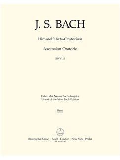 J.S. Bach: Ascension Oratorio (Laud To God In All His Kingdoms) (BWV 11) (Cello/Bass/Bassoon) Books | Choral