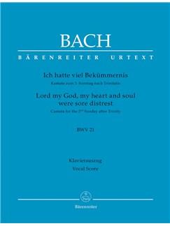 J.S. Bach: Cantata No. 21 - BWV 21 (Vocal Score) Libro | Orquesta