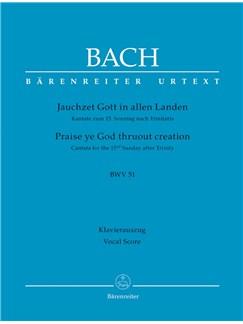 J.S. Bach: Cantata No. 51 - BWV 51 (Vocal Score) Books   Choral, SATB