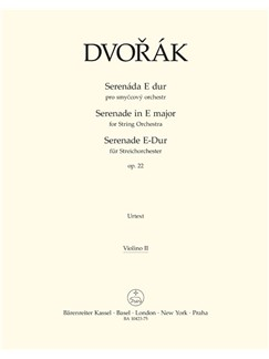 Dvorak: Serenade For String Orchestra In E Op.22 (Violin II) Books | String Orchestra
