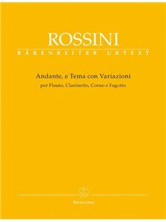 G. Rossini: Andante, Theme And Variations For Flute, Clarinet, Horn And Bassoon Books   Wind Ensemble