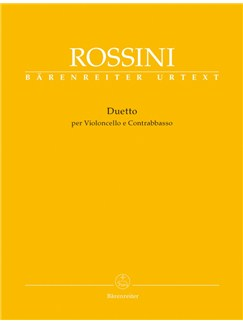G. Rossini: Duet For Cello And Double Bass Libro | Cello, Contrabajo
