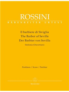 Gioachino Rossini: The Barber of Seville Overture (Barenreiter Urtext Edition) Books | Flute, Oboe, Clarinet (2), Bassoon (2), French Horn (2), Trumpet (2), Violin (2), Viola, Cello, Double Bass