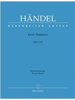 G.F. Handel: Dixit Dominus HWV 232 (Vocal Score) Books   SATB, Piano Accompaniment
