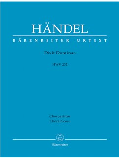 G.F. Handel: Dixit Dominus HWV 232 (Choral Score) Books | SSATB, Choral