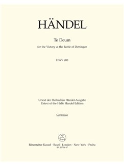 G. F. Handel: Dettinger Te Deum - HWV 283 (Organ) Books | Choral, Orchestra
