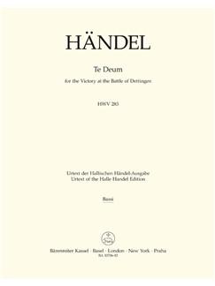 G. F. Handel: Dettinger Te Deum - HWV 283 (Cello/Bass) Books | Choral, Orchestra