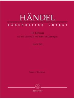 G. F. Handel: Dettinger Te Deum - HWV 283 (Full Score) Books | Choral, Orchestra
