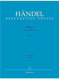 G. F. Handel: Solomon. Oratorio (HWV 67) Vocal Score (Eng) Books | Choral, Piano Accompaniment