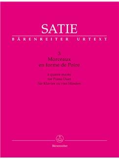 3 Morceaux En Forme De Poire For Piano Duet Books | Piano Duet