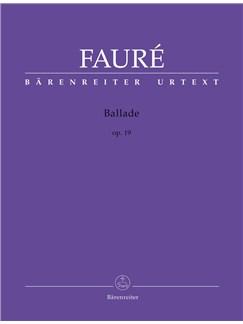 Gabriel Faure: Ballade Op.19 (Urtext) Books | Piano