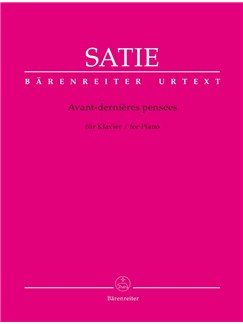 E. Satie: Avant-Dernieres Pensees For Piano Books | Piano
