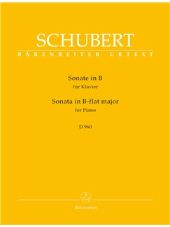 Franz Schubert: Sonata In B-flat For Piano (D.960) Books | Piano