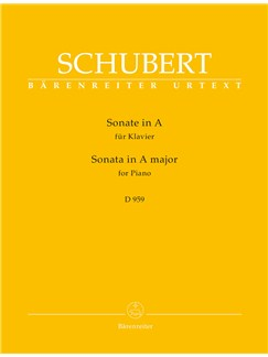 Franz Schubert: Piano Sonata In A D.959 Books | Piano