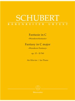 Franz Schubert: Fantasy In C - Wanderer Fantasy Op.15 D 760 For Piano Books | Piano
